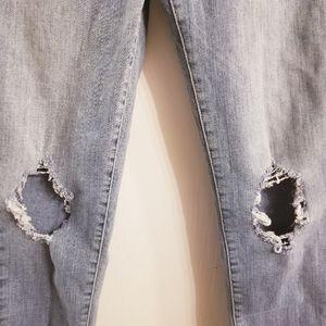 Levi's Jeans - Levi's Mile High Distressed Super Skinny Jeans